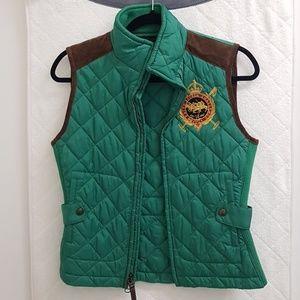 Ralph Lauren puffer vest .Green Sz Small